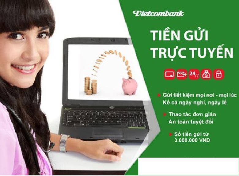 gửi tiết kiệm qua internet banking vietcombank