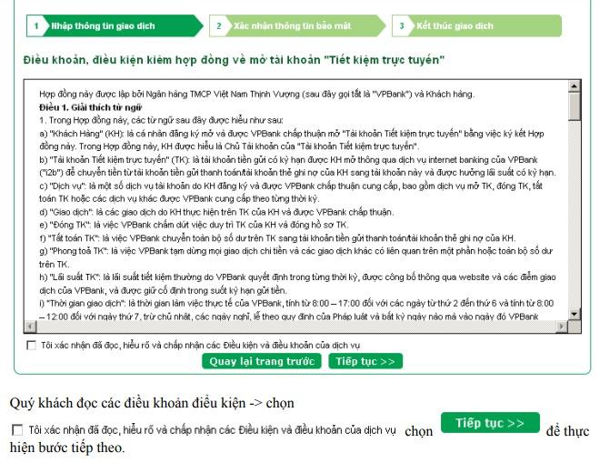 Cách gửi tiền tiết kiệm online VPbank ảnh 1