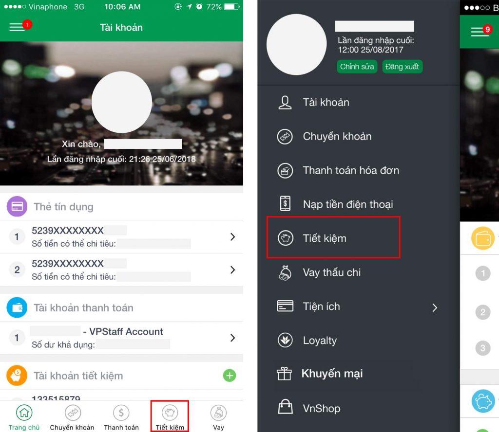Hướng dẫn gửi tiết kiệm online Vietcombank 2020 ảnh 4