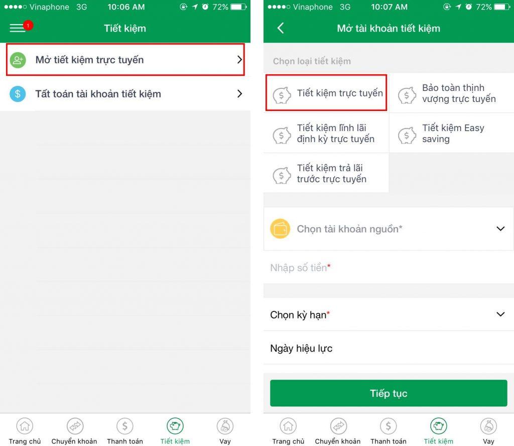 Hướng dẫn gửi tiết kiệm online Vietcombank 2020 ảnh 5