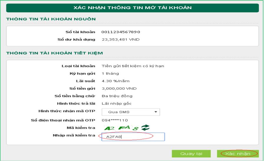 Hướng dẫn cách đăng ký mở tài khoản gửi tiết kiệm online Vietcombank ảnh 5