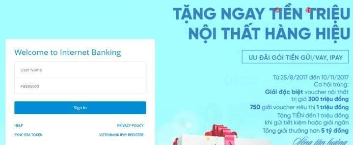 Hoàn thành quá trình đăng ký gửi tiết kiệm online Vietinbank online